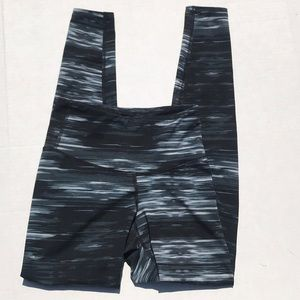 Old Navy Black/White Activewear High Waisted Pants